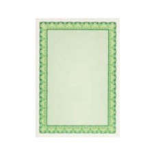 Сертификат-бумага Decadry А-4  (вод.знаки) зеленая (25л/уп)