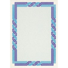 Сертификат-бумага Decadry А-4  (вод.знаки) сине-голуб. (25л/уп)