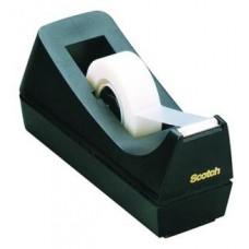 Диспенсер настольный для клейкой ленты 19мм Scotch (черный)