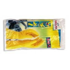 Перчатки резиновые PACLAN с хлопковым напылением, размер L