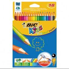 Карандаши цветные BIC EVOLUTION 18 цветов, пластиковый корпус