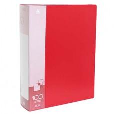 "Папка на 100 файлов ""Бюрократ"" 0.8 красная"