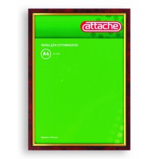 Рамка для сертификатов Attache 21х30см (пластик, защитное стекло, красное дерево с золотом)