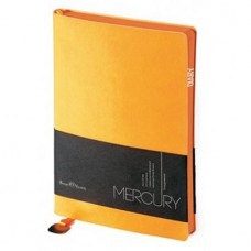 Ежедневник недатированный А-5 Bruno Visconti Mercury 136л. (кремовый блок, оранжевый срез, оранжевый)