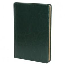 Ежедневник н/дат. А-5 АЛЬТ SIDNEY 136л. (145*210) прошивной, золотой срез, зелёный
