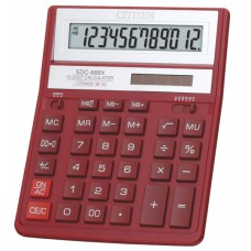 Калькулятор CITIZEN SDC-888XRD 12 разрядов, 159*205мм.бордовый