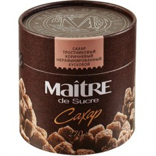 Сахар Maitre de Sucre тростниковый коричневый кусковой,270г