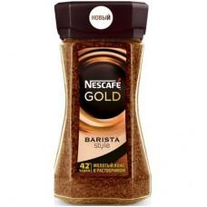Кофе Nescafe Gold Barista Style растворимый с молотым 85г, стекло
