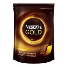Кофе Nescafe Gold, растворимый 150г в пакете, сублимированный