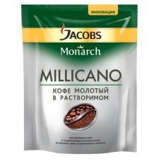 Кофе Jacobs Monarch Millicano растворимый с молотым 150г пакет