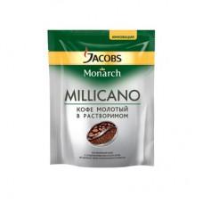 Кофе Jacobs Monarch Millicano растворимый с молотым 75г (пакет)