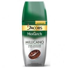 Кофе Jacobs Monarch Millicano растворимый с молотым 190г стекло