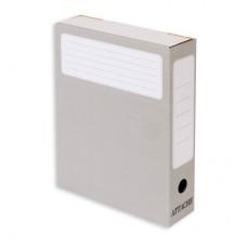 Короб архивный  75мм, ATTASHE гофрокартон, серый (5 шт/уп)