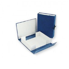 Папка архивная 100мм ATTASHE бумвинил, синяя