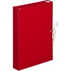Папка архивная  50мм ATTASHE бумвинил, 4 завязки, красная
