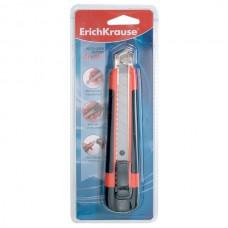 "Нож канцелярский 18мм. E.KRAUSE ""Arrow""+2 лезвия (метал.направляющие,автофиксатор,рез.вставки)"