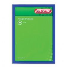 Рамка для сертификатов Attache 21х30см (пластик, защитное стекло, темно-синяя)