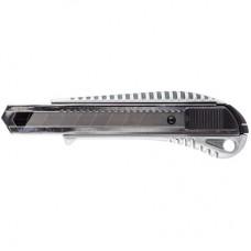 Нож канцелярский 18 мм металлический с цинковым покрытием