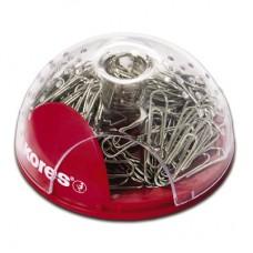 Скрепочница магнитная Kores пластиковая со 100 скрепками.