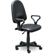 Кресло Prestige черное (кожзаменитель/пластик)
