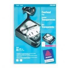 Пленка для проекторов Z3552  А4 для лазерного принтера и копиров 0,1 мм, прозрачная (100л/уп)