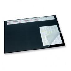 Коврик на стол DURABLE 7204-01 с календарём 52х65 с прозрозрачным листом, чёрный