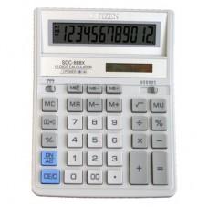 Калькулятор CITIZEN SDC-888XWH 12 разрядов, 159*205мм, белый