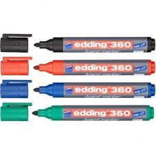 Набор маркеров для досок Edding e-360/4S cap off, 1,5-3 мм, 4 шт.