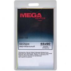Бейдж вертикальный, прозрачный ProMega Office (для карточек 55х90 мм)