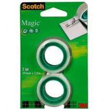 Клейкая лента 3M Scotch (19мм х 7.5м, невидимая, 2 штуки)