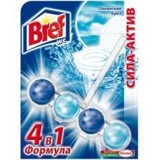 Блок гигиенический для унитаза Bref Сила-актив «Океанский Бриз» (шарики)