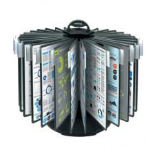 Демо-система настольная Mega Office карусель 30 панелей черная