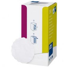 Подставки бумажные под чашки Tork  9x9 см, белые с тиснением, 250 шт./упак  474474