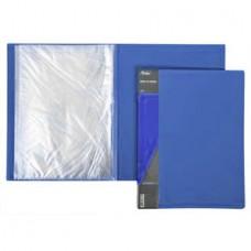 Папка на 20 файлов Hatber  0.5 мм синяя