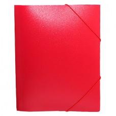 Папка на резинке Attache А4 пластиковая плотная (0.6 мм, до 200 листов) красная