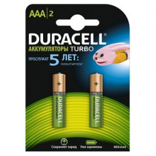 Аккумулятор Duracell 800/850mAh AAA/LR03 предзаряженный (2 штуки)