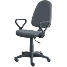 Кресло  Prestige серое (ткань/пластик)