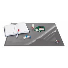 Коврик на стол Bantex черный с прозрачным листом 49х65 см.