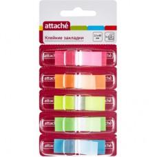 "Закладки ""Attache""  12*45 пластик (5 цв./25 л.диспенсер)"