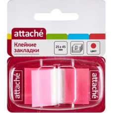 Закладки Attache пластиковые  25 л. 25х45 мм в диспенсере
