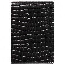 Обложка для паспорта Fabula Reptile  нат.кожа, черный в Екатеринбурге