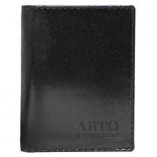 Бумажник водителя кожа черный