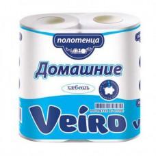 Полотенца бумажные VEIRO Домашние 2-слойные (2шт/уп)