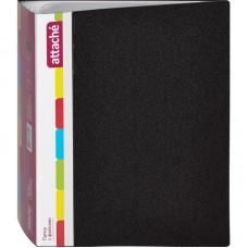 Папка на 100 файлов Attache 0,6мм черная