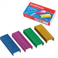 Скобы для степлера №24/6  Erich Krause, цветные