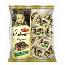 Конфеты шоколадные  Аленка вафельные с фундуком 250 г.