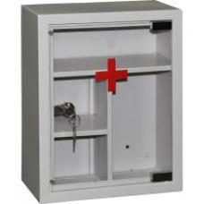 Аптечка со стеклянной дверью ПРАКТИК AMD-39G, 300х160х390