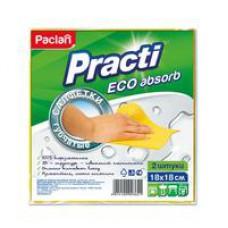 Салфетки губчатые PACLAN 18*18 см (2 шт/уп.)