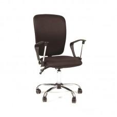 Кресло  CH-9801 черное (ткань/пластик/хром)
