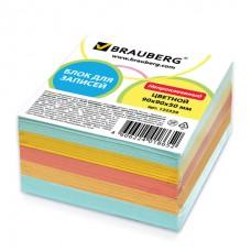 """Блок бумаги 9*9*5 """"BRAUBERG"""",цветной"""